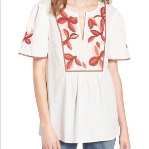 Madewell NWT Embroidered Fable Top